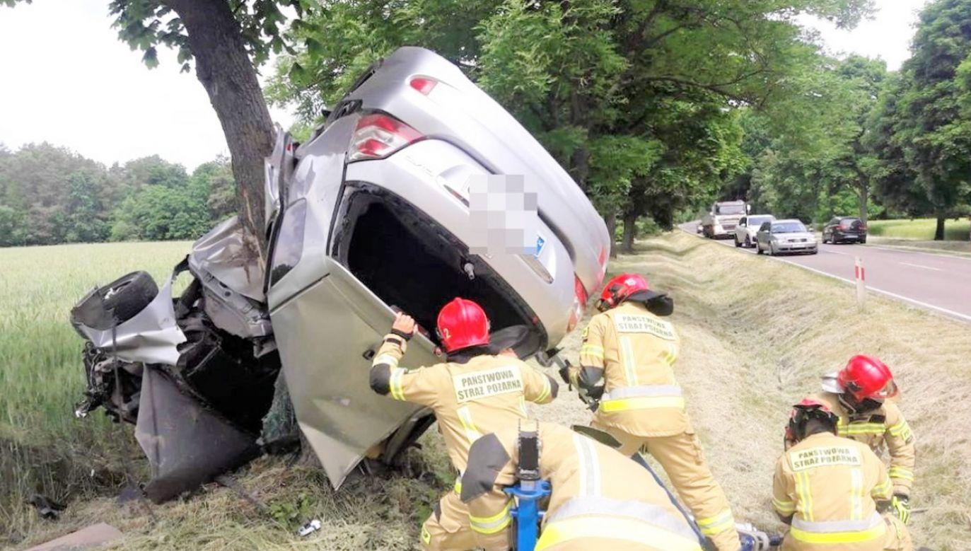 Świadkami wypadku byli policjanci (fot. Policja)