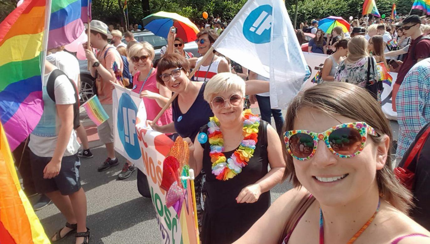 Aktywistki Inicjatywy Feministycznej biorą m.in. udział w marszach równości (fot. FB/Inicjatywa Feministyczna)