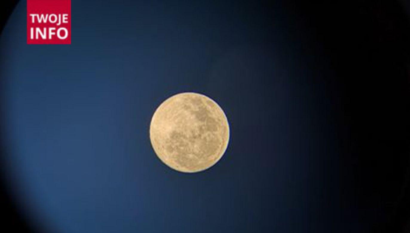 Najbliższa pełnia jest czwartą pod względem obserwowanej wielkości tarczy naszego ziemskiego satelity (fot. Twoje Info)