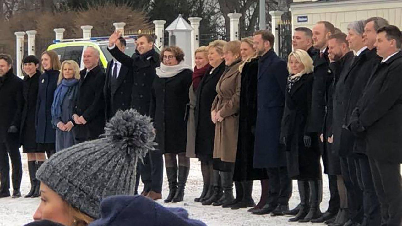 """""""To pierwszy większościowy niesocjalistyczny rząd od 1985 roku"""", powiedziała premier Norwegii Erna Solberg (fot. TT/KrF Kristelig Folkeparti)"""