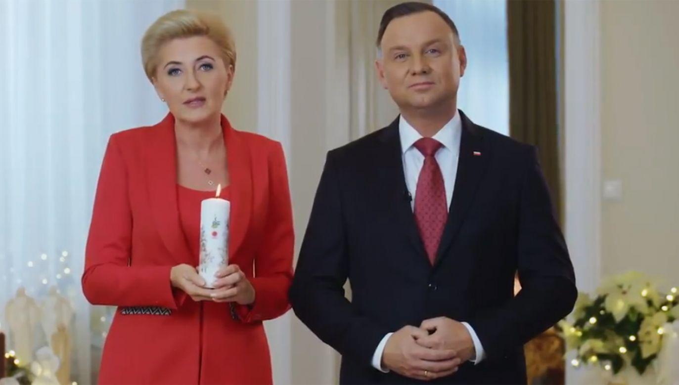 Para prezydencka zachęca do udziału w akcji Wigilijne Dzieło Pomocy Dzieciom (fot. tvp.info)