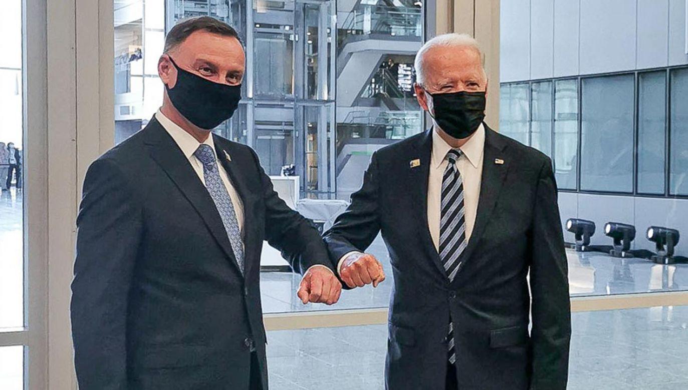 Prezydent RP Andrzej Duda i prezydent USA Joe Biden (fot. prezydent.pl)