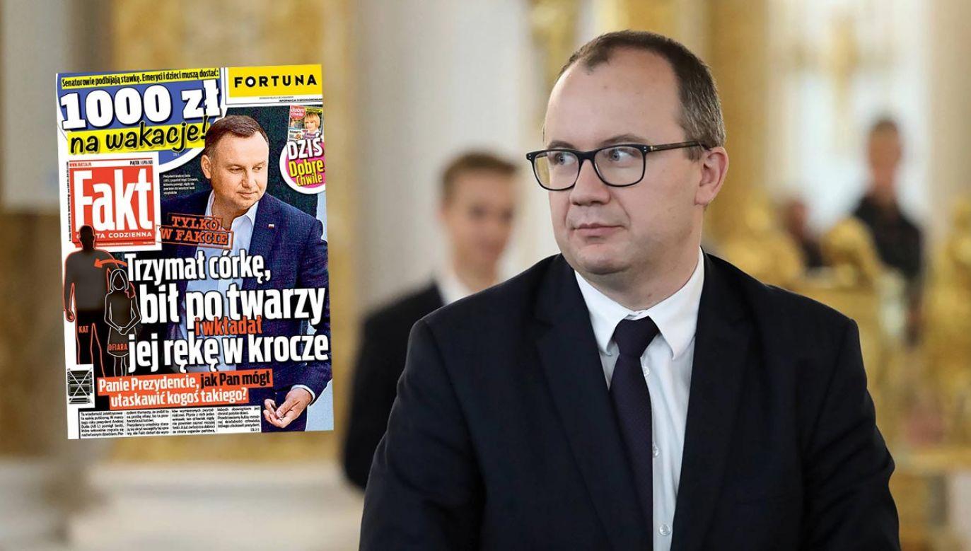 Gazeta atakuje prezydenta, był polityk PiS apeluje do RPO (fot. PAP/Tomasz Gzell; Twitter/Fakt24.pl)