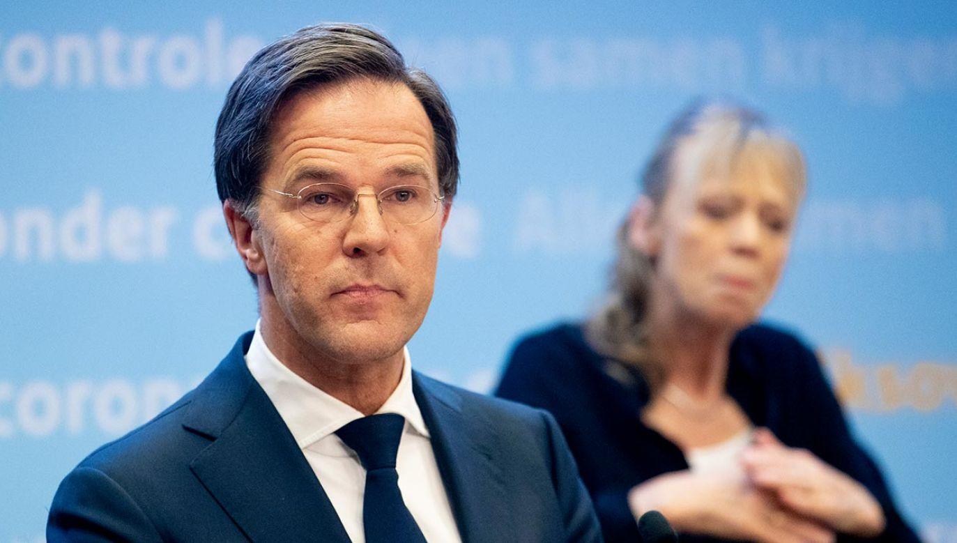 Premier Holandii Mark Rutte (fot. Niels Wenstedt/BSR Agency/Getty Images)