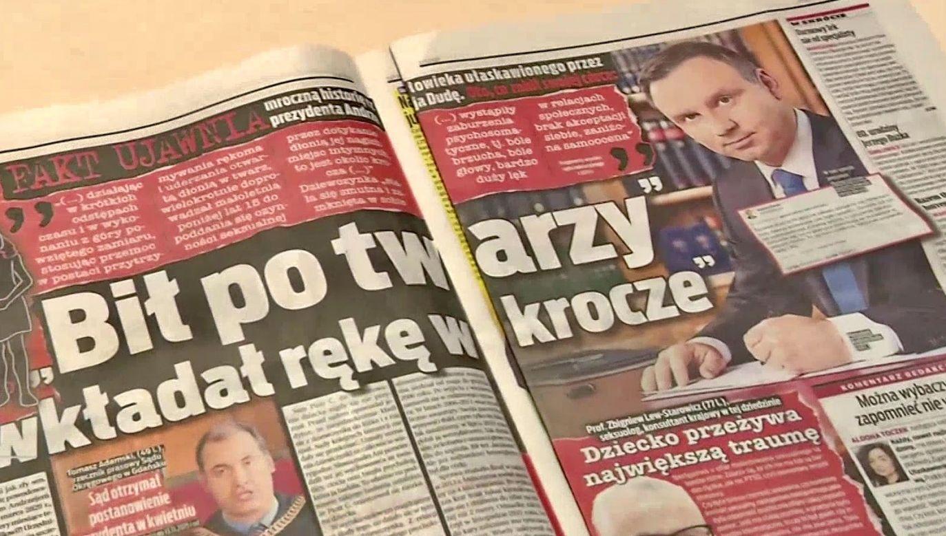 Prezes SDP podkreślił, że największą winą tabloidu jest dopuszczenie do bezprecedensowej manipulacji faktami(fot. TVP Info)