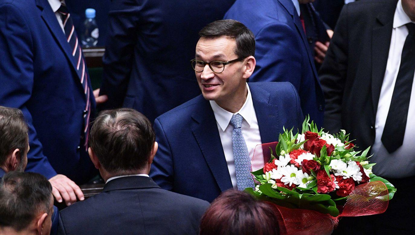 Sejm udzielił wotum zaufania nowemu gabinetowi premiera Morawieckiego (fot. PAP/Marcin Obara)