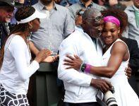 Serena radowałą się razem z ojcem (fot. Getty Images)