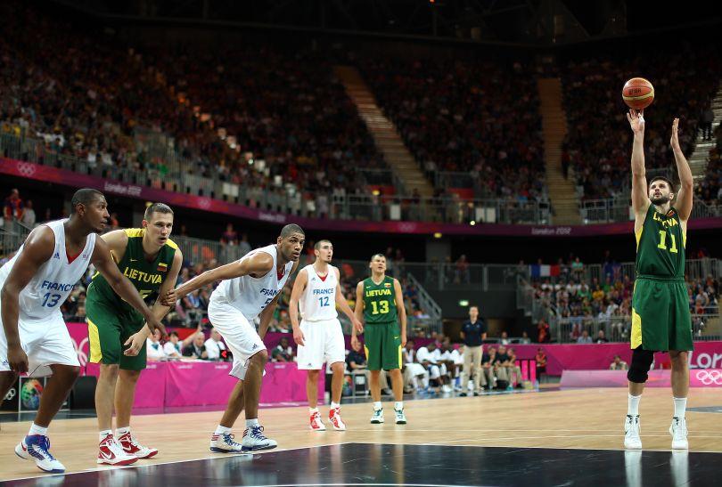 Linas Kleiza był drugim najskuteczniejszym koszykarzem Litwy (fot. Getty Images)