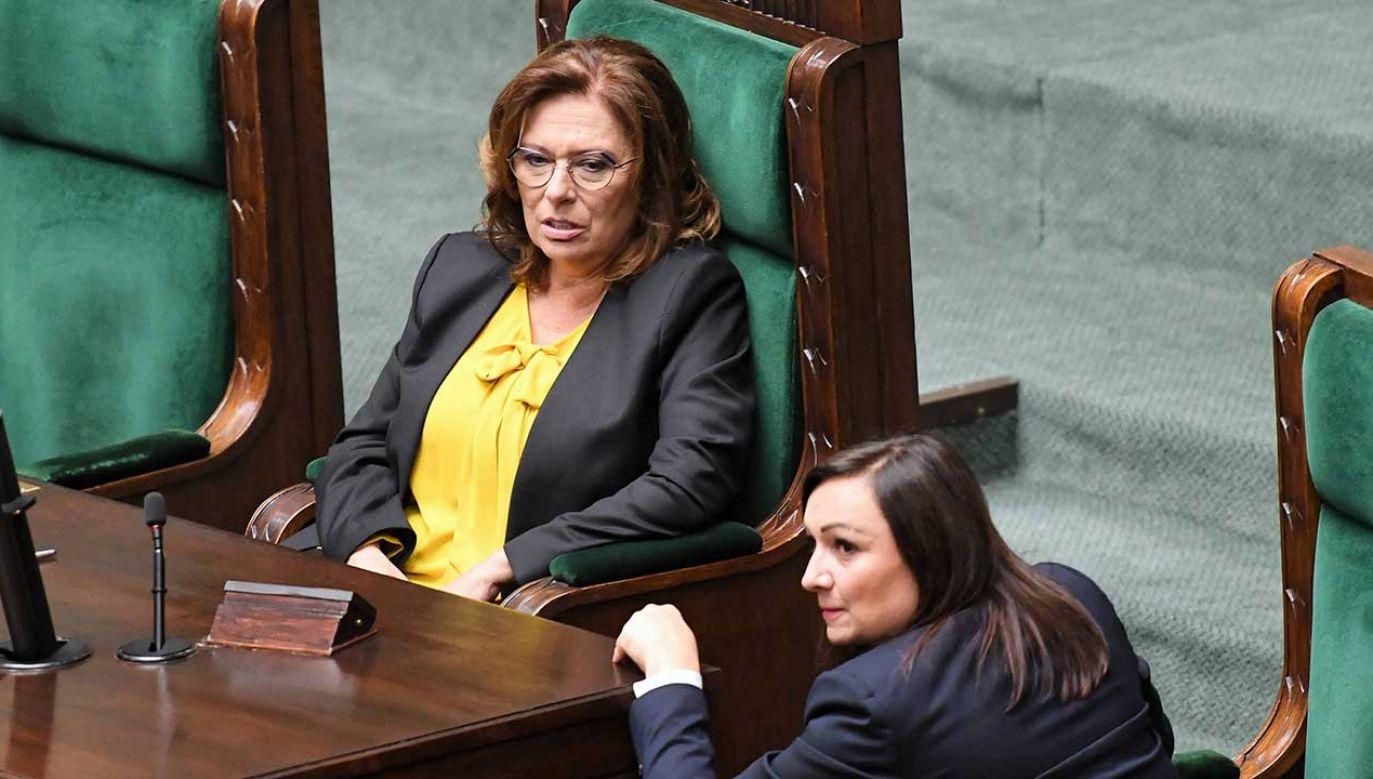 Z przerażeniem patrzę, że wybory prezydenckie może wygrać pan Andrzej Duda – ocenia Julia Pitera (fot. arch. PAP/Piotr Nowak)