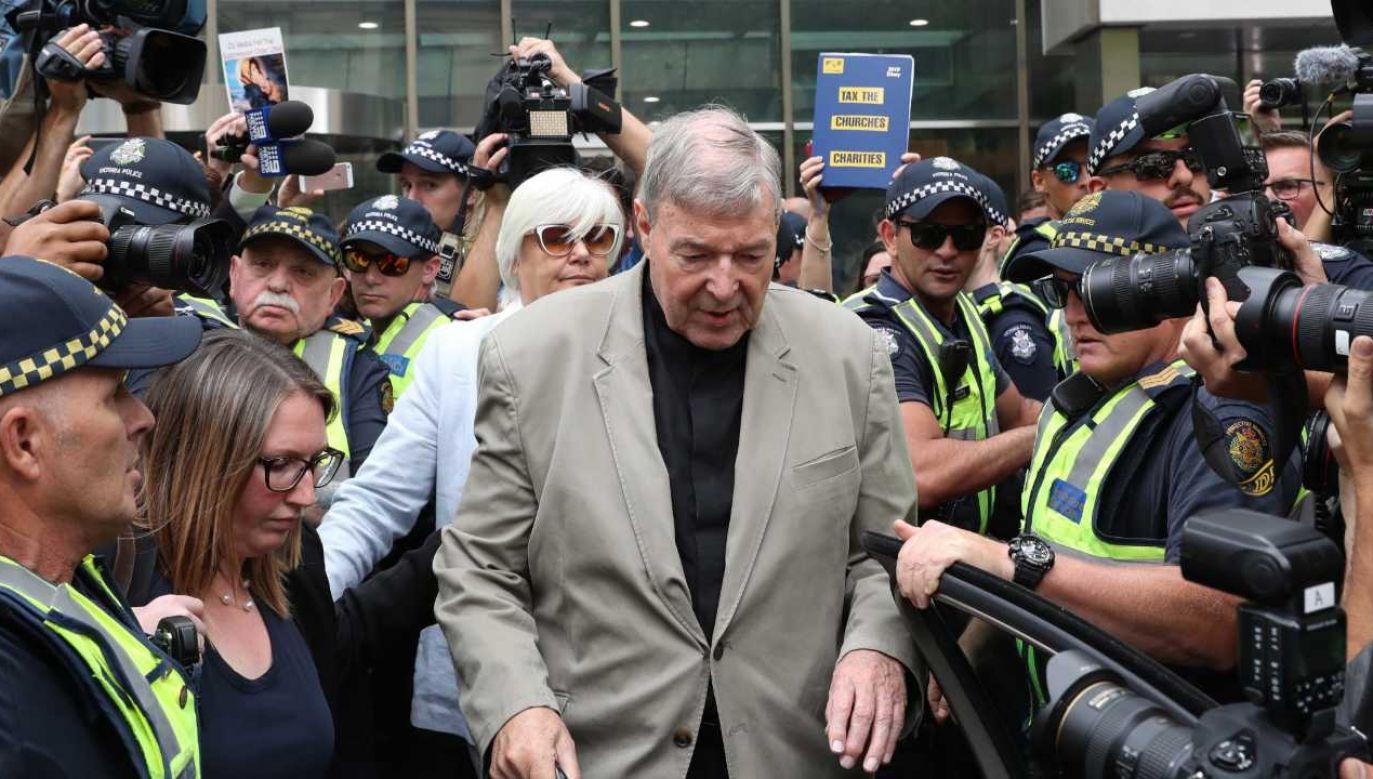 Kard. George Pell został wcześniej skazany na sześć lat więzienia (fot. PAP/EPA/DAVID CROSLING)
