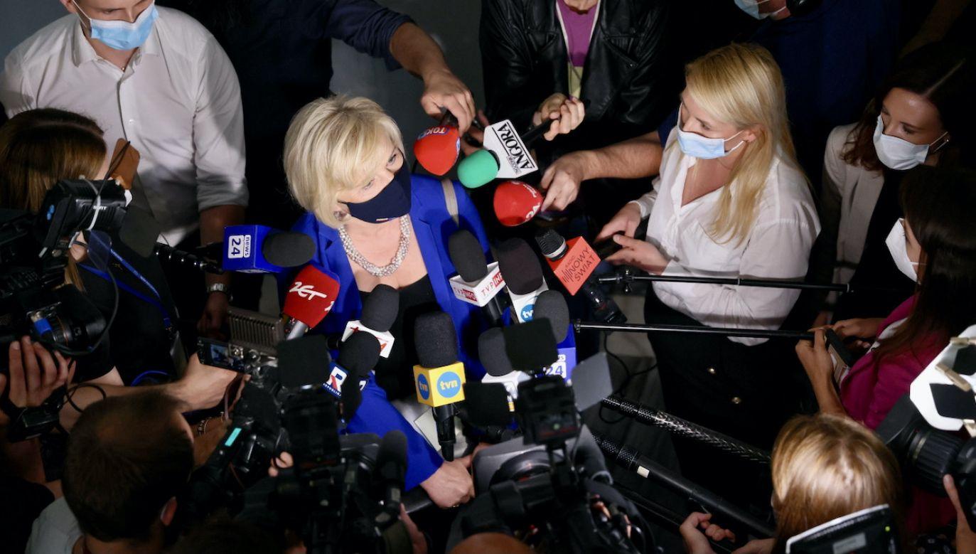 Senat nie wyraził zgody na powołanie Lidii Staroń na nowego Rzecznika Praw Obywatelskich (fot. PAP/Leszek Szymański)
