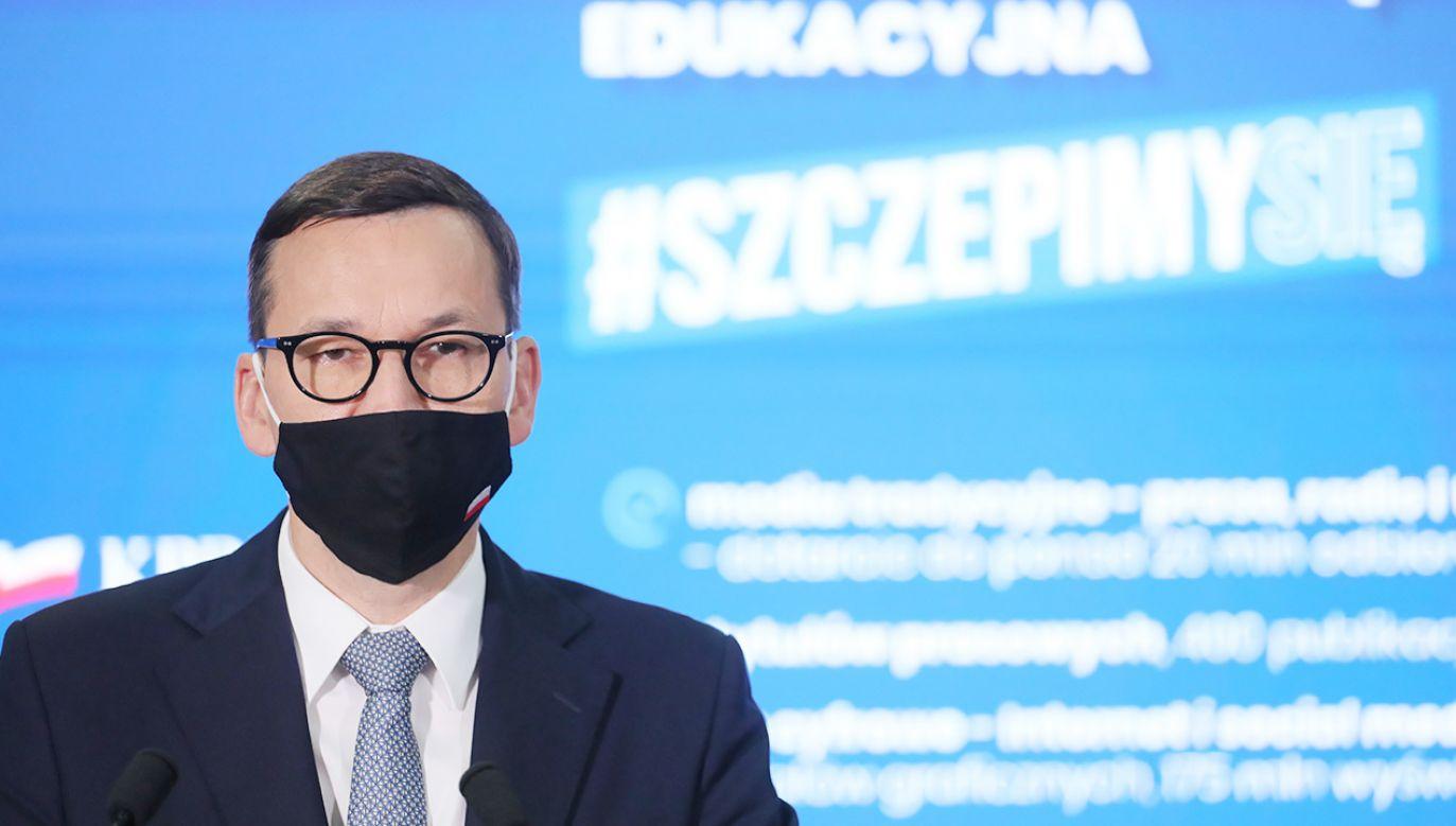Premier Mateusz Morawiecki (fot. PAP/Paweł Supernak)