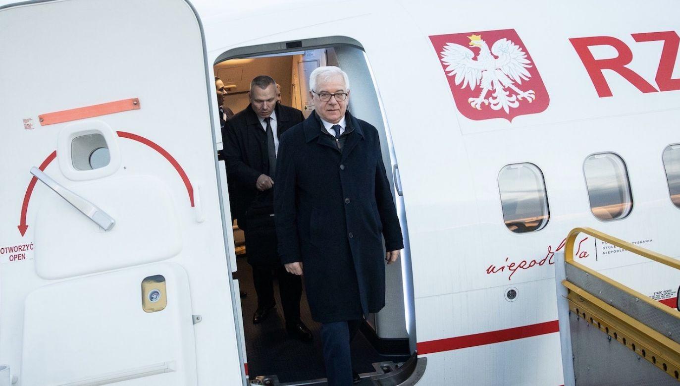 Jacek Czaputowicz w Pradze spotka się z Tomaszem Petrziczkiem, a w Budapeszcie z Peterem Szijjarto (fot. Tymon Markowski/MSZ)