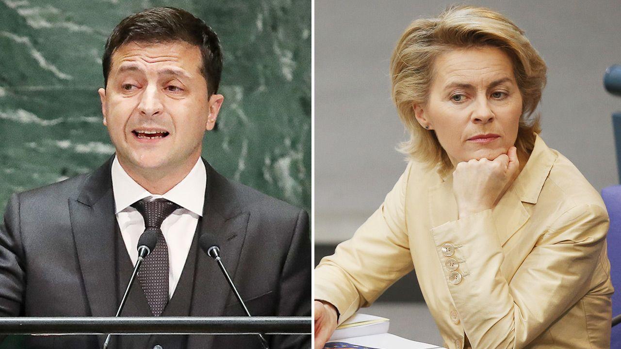 Wołodymyr Zełenski i Ursula von der Leyen (fot. Getty Images)