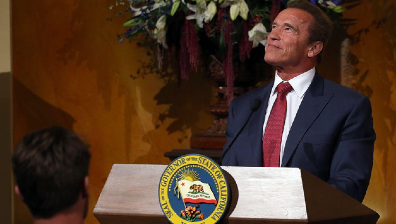 Arnold Schwarzenegger przez dwie kadencje był gubernatorem Kalifornii (fot. Justin Sullivan/Getty Images)
