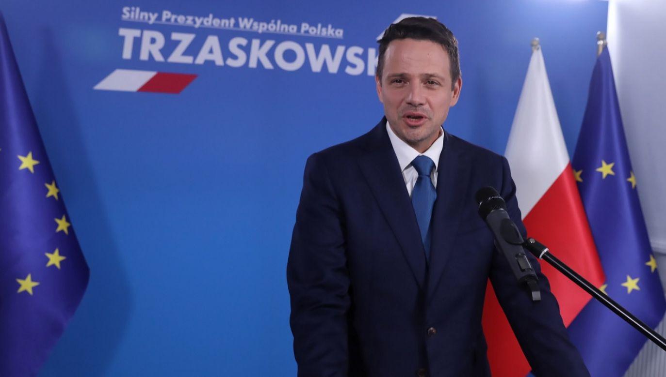 – Pójdę, jeśli Marsz nie będzie wykorzystywany politycznie – tłumaczył kandydat KO (fot. PAP/Tomasz Gzell)