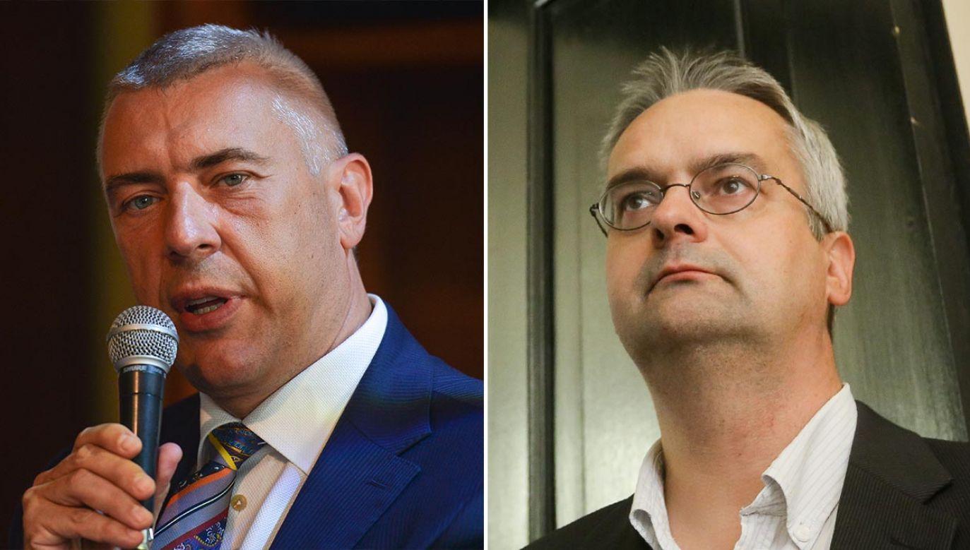 W sprawie pojawiło się też nazwisko dziennikarza Wojciecha Czuchnowskiego (P) (fot. Artur Widak/NurPhoto via Getty Images; PAP/Paweł Supernak)