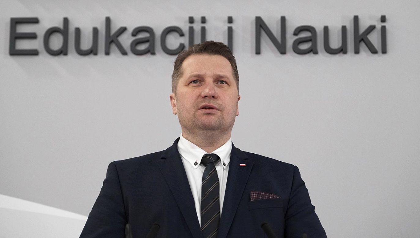 Kiedy konferencja ministra edukacji i nauki Przemysława Czarnka? (fot. PAP/Mateusz Marek)