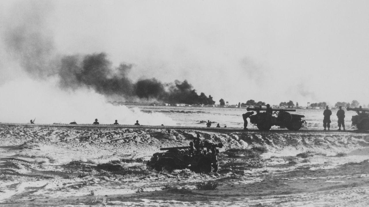 Kanał Sueski podczas konfliktu izraelsko-arabskiego, 1967 r. (fot. KEYSTONE-FRANCE/Gamma-Rapho via Getty Images)