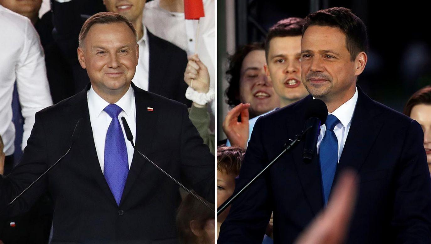 Słowa padły po ogłoszeniu wyników sondażowych (fot. Maja Hitij/Getty Images; REUTERS/Aleksandra Szmigiel)