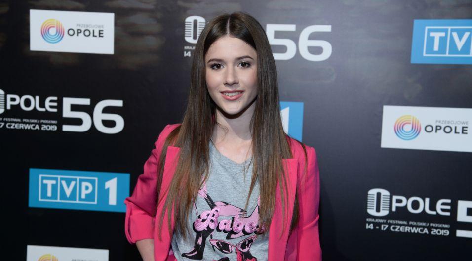– Jestem zaszczycona, że wystąpię wśród tak znakomitych artystów – powiedziała Roksana Węgiel, zwyciężczyni Eurowizji Junior (fot. Jan Bogacz/TVP)