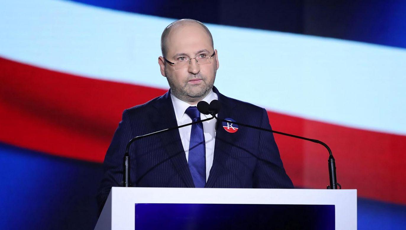 Adam Bielan na temat Jarosława Gowina fot. PAP/Tomasz Gzell)