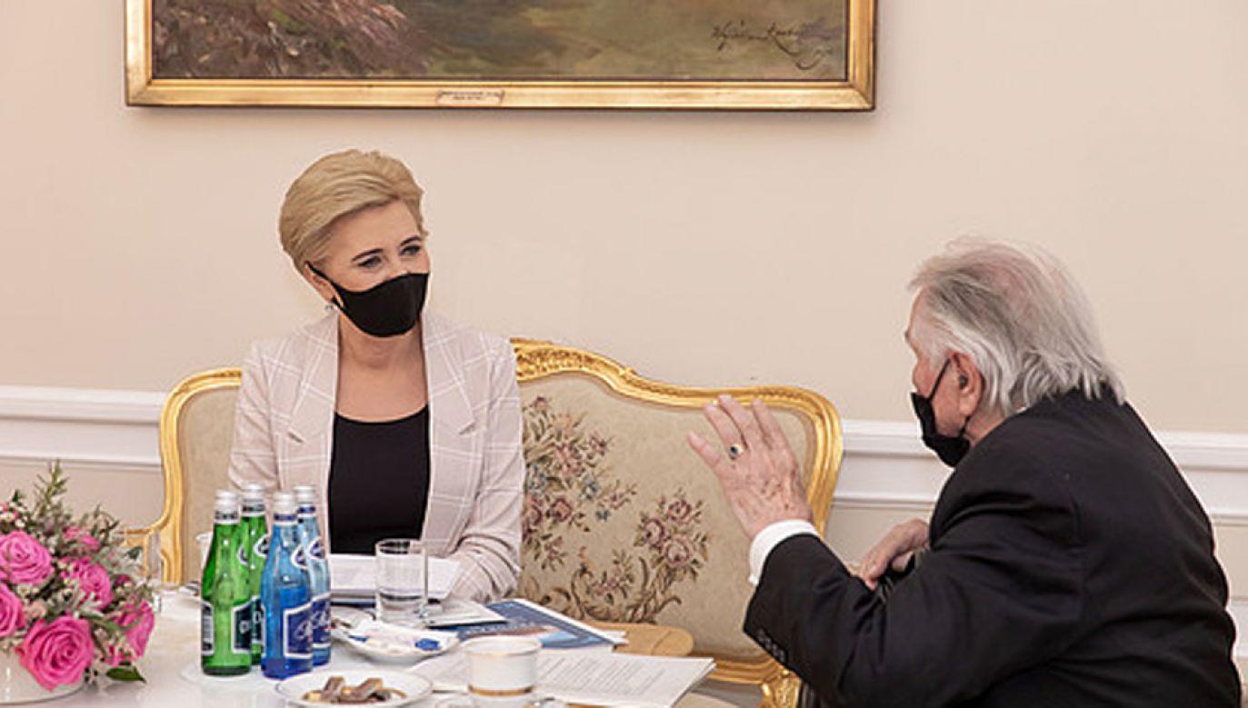 Spotkanie pierwszej damy z prof. Jerzym Woy-Wojciechowskim (fot. KPRP/Igor Smirnow)
