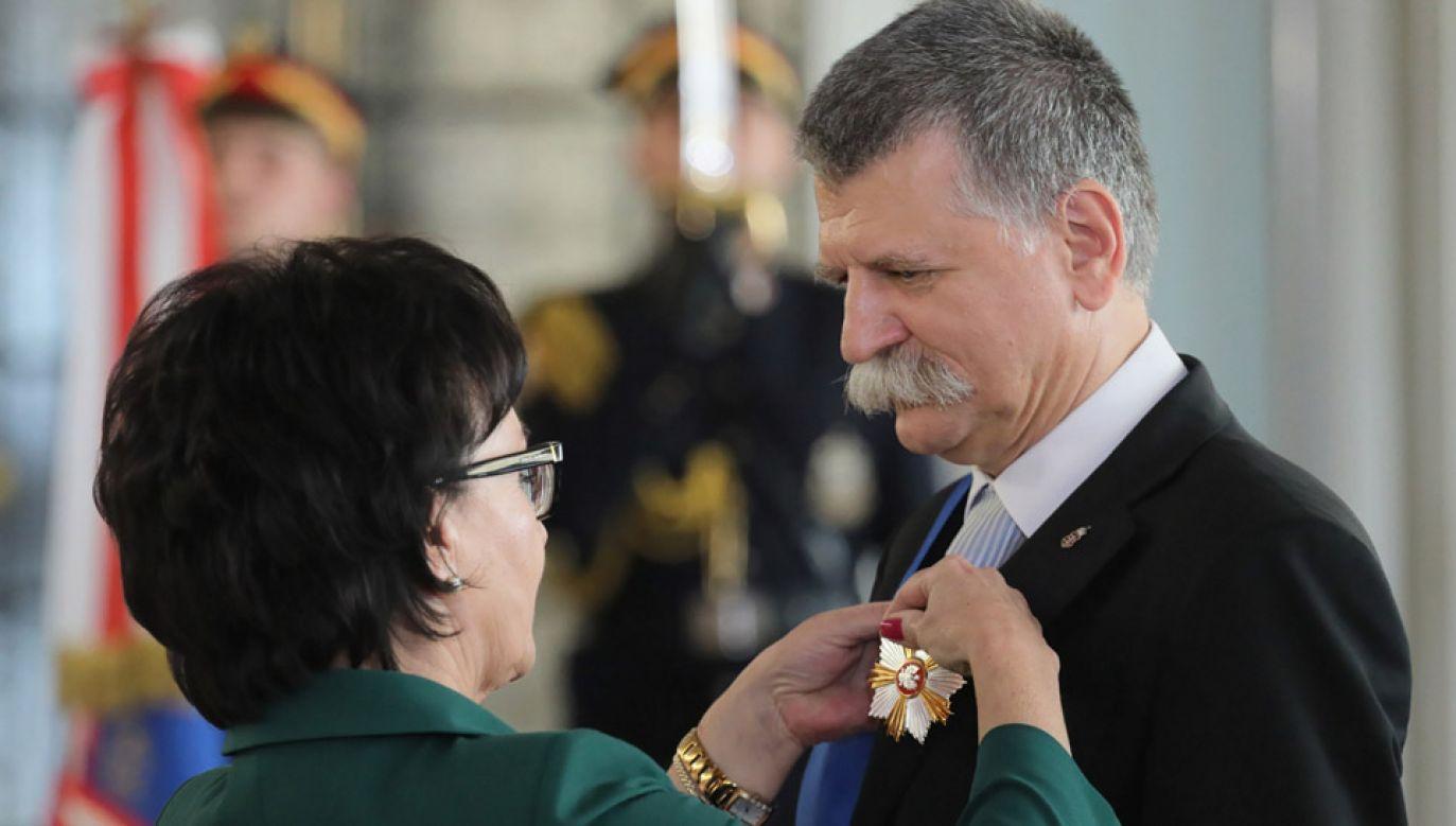 Laszlo Koever odznaczony Krzyżem Wielkim Orderu Zasługi RP (fot. PAP/Paweł Supernak)