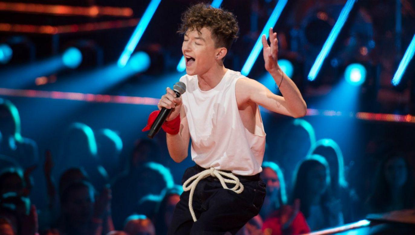 """13-letni Marcin Maciejczak wygrał trzecią edycję """"The Voice Kids"""" (fot. TVP)"""
