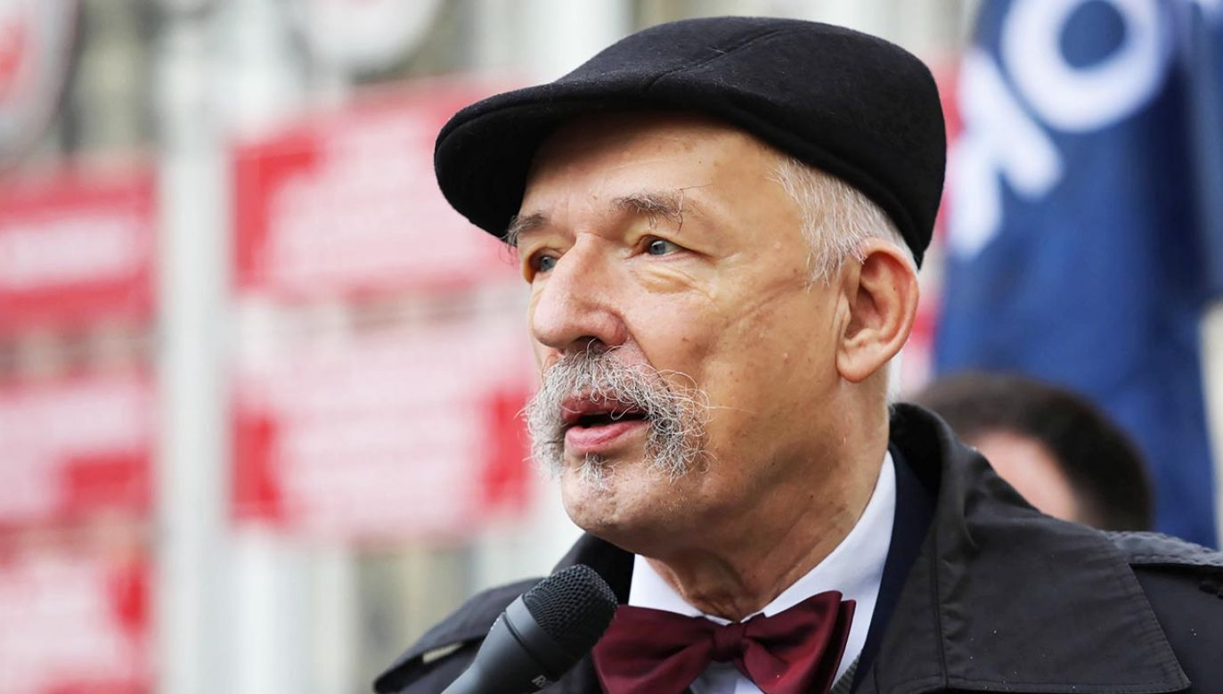 Janusz Korwin-Mikke (fot. PAP/Tomasz Gzell)