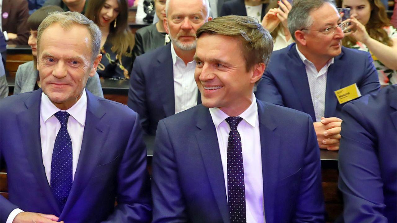 Leszek Jażdżewski wystąpił przed Donaldem Tuskiem (fot. PAP/Rafał Guz)