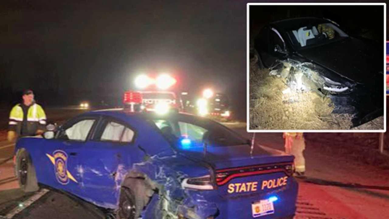Na szczęście nikt nie ucierpiał (fot. Michigan State Police/Twitter)