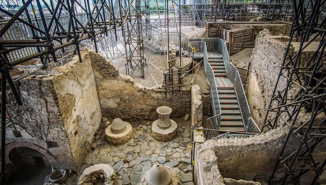 Ruiny tego budynku zostały odkryte w 1933 roku (fot. arch.PAP/EPA/CESARE ABBATE)