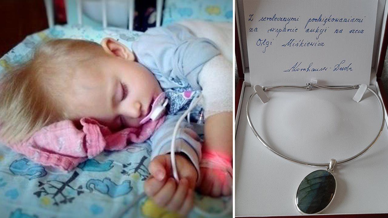 Para prezydencka włączyła się w pomoc dla Olgi (fot. siepomaga.pl; Facebook/Joanna Kubiak)