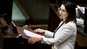 Kamila Gasiuk-Pihowicz zakwestionowała fakt uznania przez SN ważności wyborów prezydenckich (fot. Mateusz Wlodarczyk/NurPhoto via Getty Images)