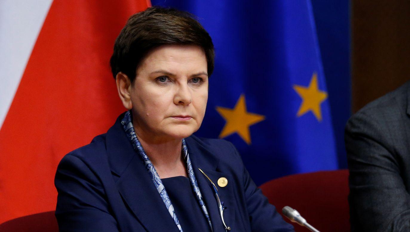 """""""Polski rząd konsekwentnie realizuje program, do którego zobowiązali go obywatele""""(fot. Reuters/Francois Lenoir)"""