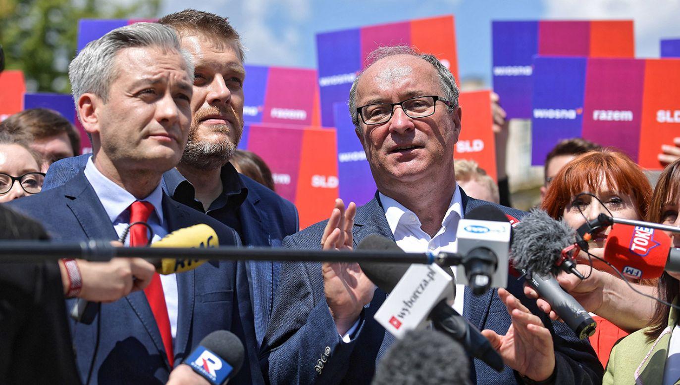 SLD, Wiosna i Lewica Razem ogłosiły, że idą wspólnie do wyborów parlamentarnych (fot. PAP/Marcin Obara)