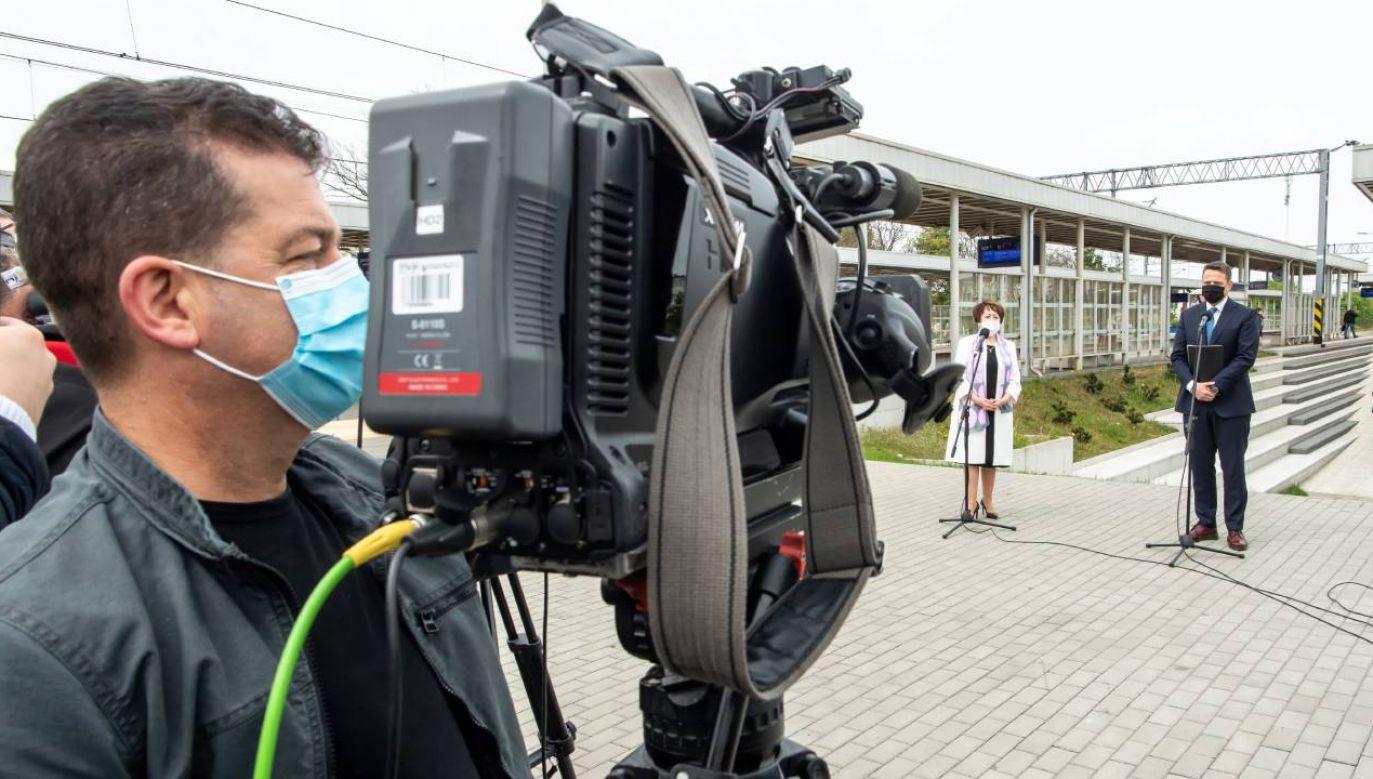 Rafał Trzaskowski podczas konferencji prasowej (fot.PAP/Tytus Żmijewski)