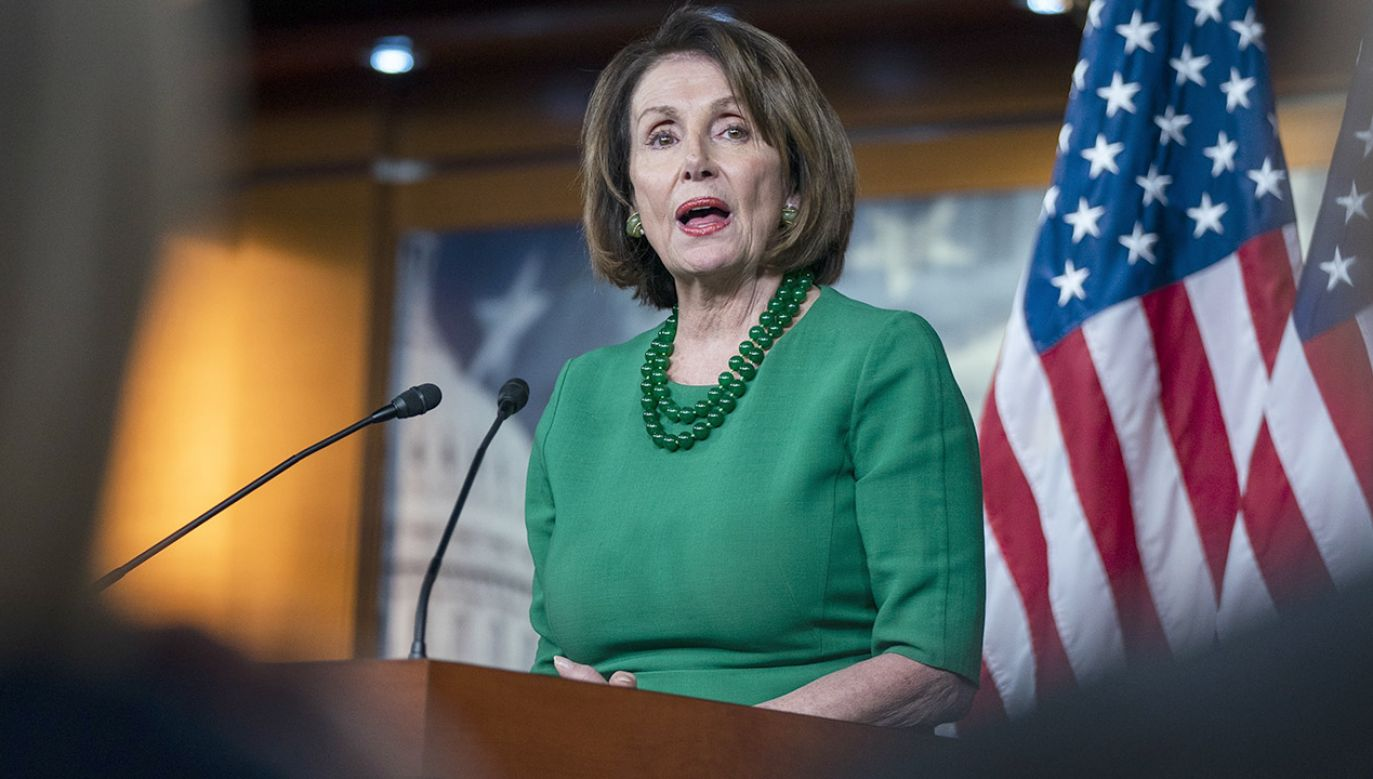 Przewodnicząca Izby Reprezentantów Nancy Pelosi (fot. PAP/EPA/JIM LO SCALZO)