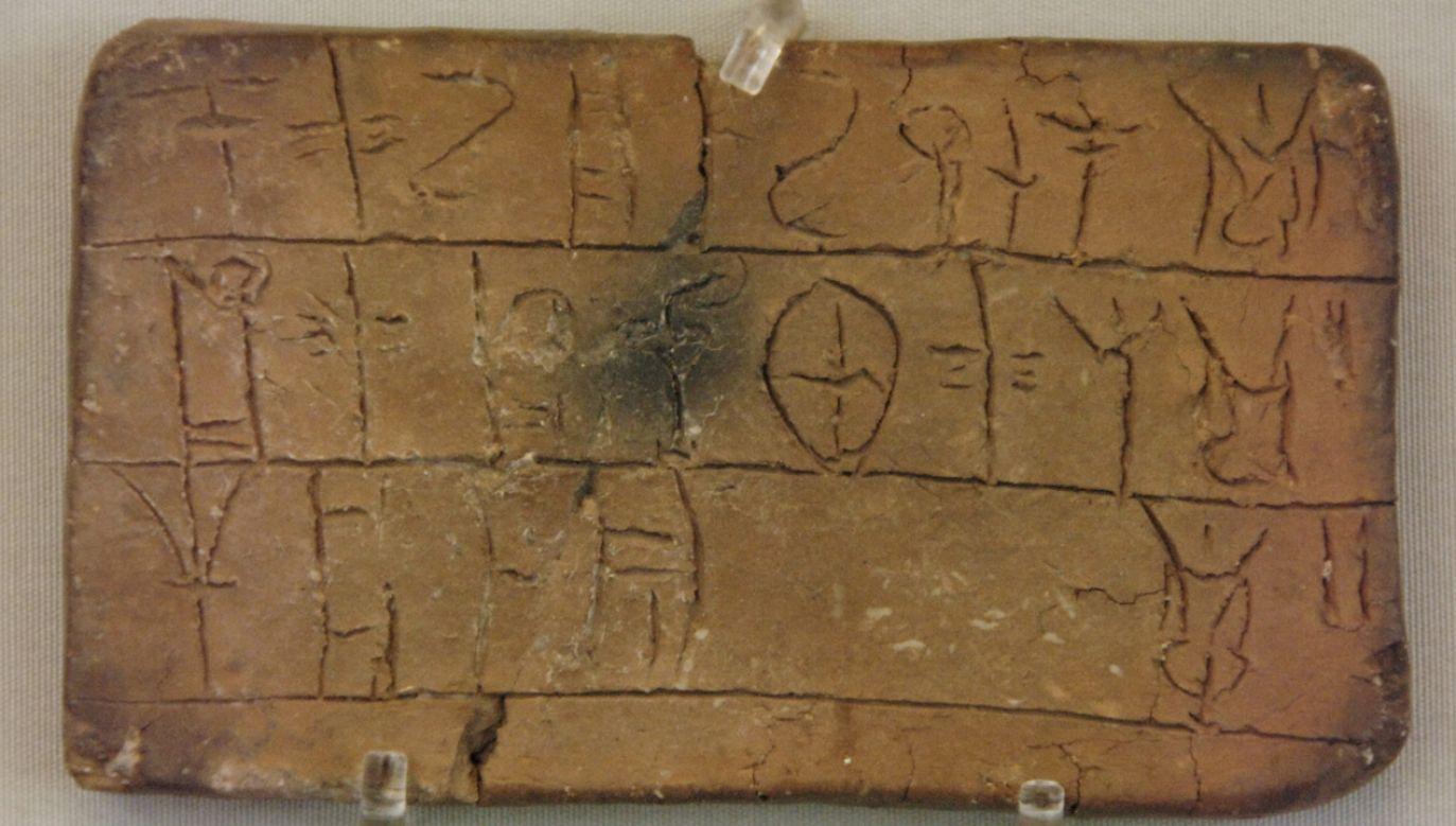 Tabliczka z pismem linearnym B; Narodowe Muzeum Archeologiczne w Atenach (fot. Prisma/UIG/Getty Images)