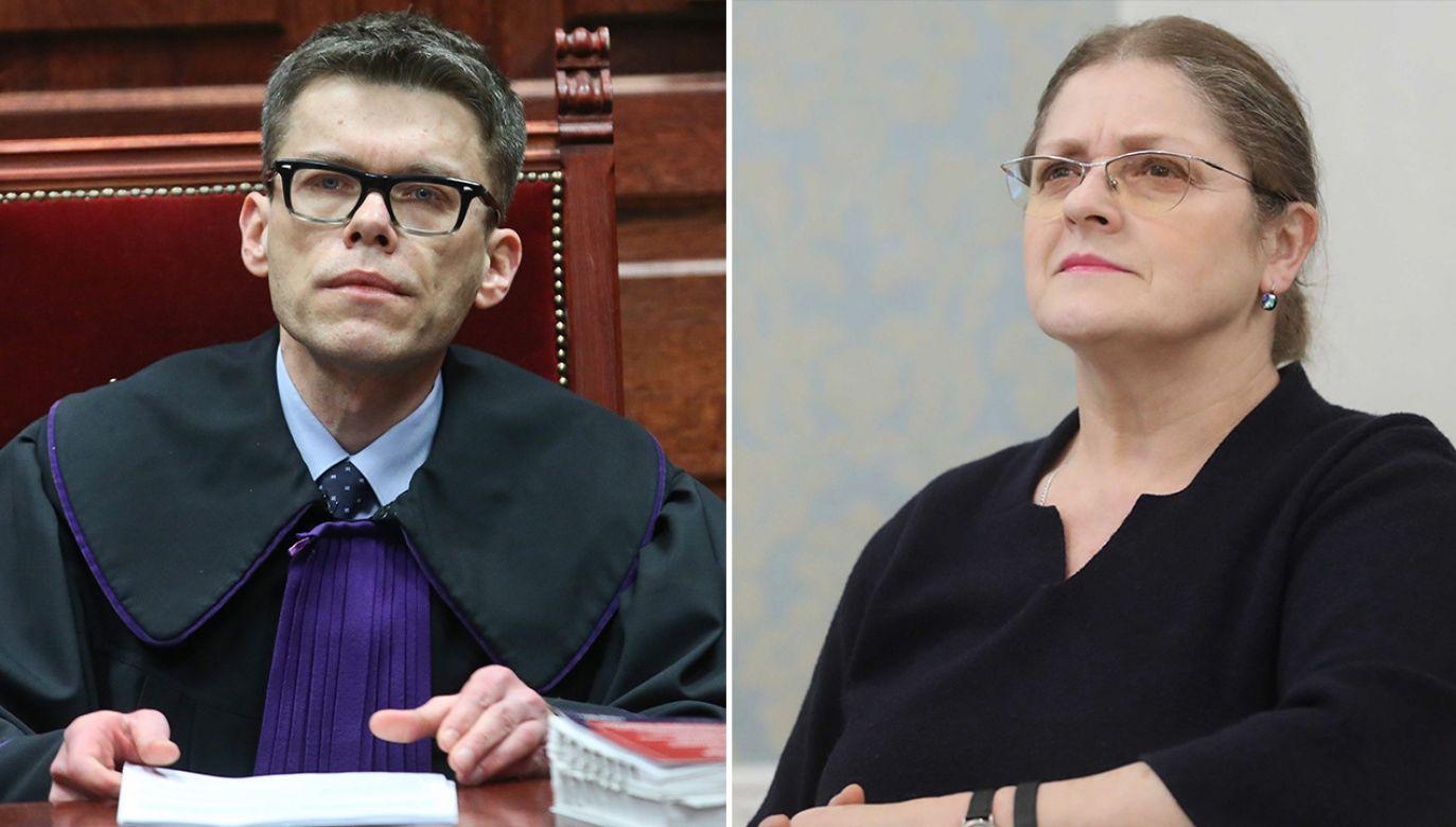 W opinii sędziego podczas egzaminu Pawłowicz była wyrozumiała, ale i wymagająca (fot. arch. PAP/Rafał Guz,Roman Zawistowski)