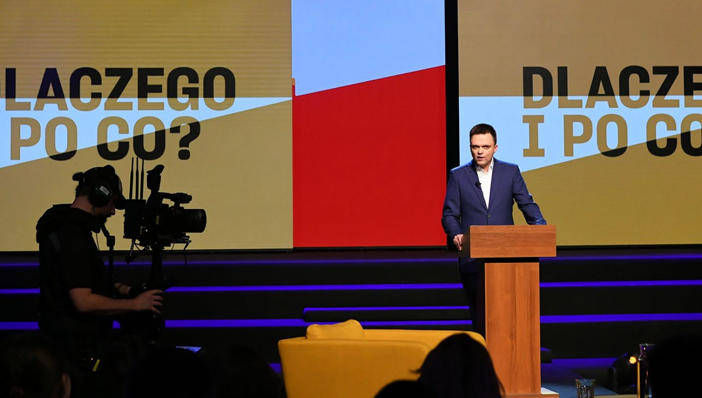 Rzecznik prezydent Gdańska zapewnia, że konwencja została sfinansowana ze środków sztabu Hołowni (fot. PAP/Adam Warżawa)