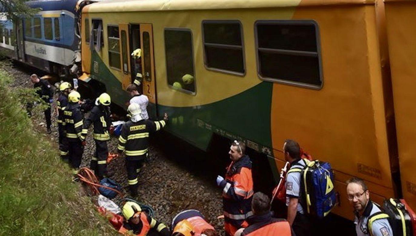 Nie wiadomo, ile osób mogło podróżować w obu pociągach (fot. PAP/ EPA/Policie CR)