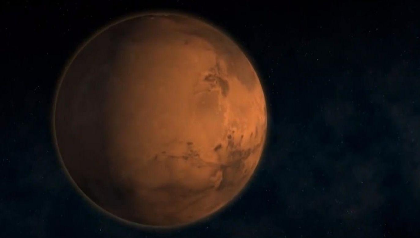 Celem podpisanej umowy jest skonstruowanie  oraz wysłanie na orbitę Marsa lekkich satelitów badawczych (fot. TVP)