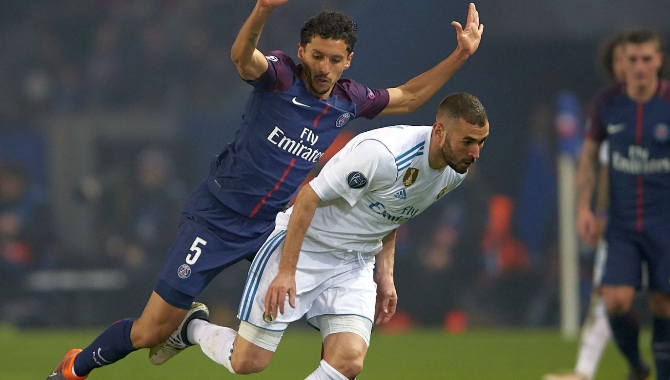 Marquinhos (L) i Karim Benzema (fot. Getty)