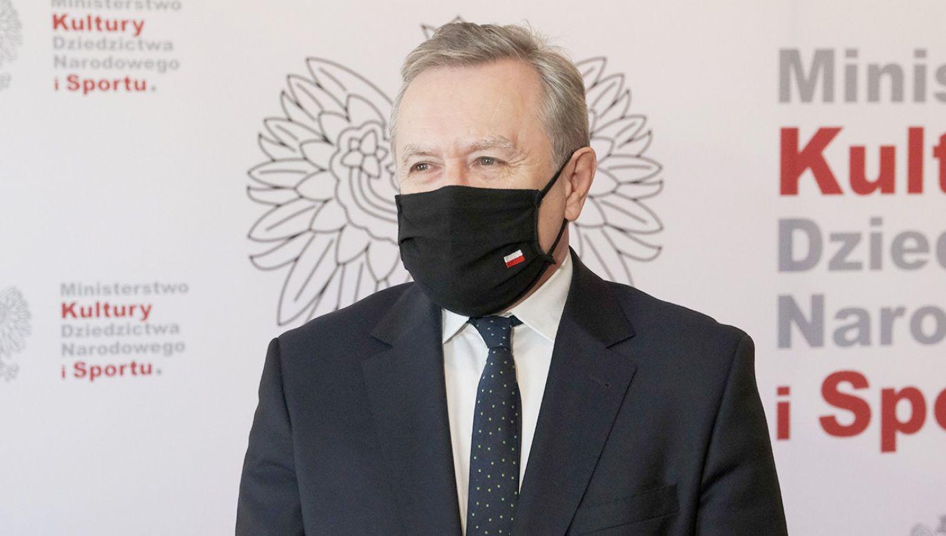 Minister Piotr Gliński (fot. PAP/Mateusz Marek)